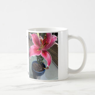 Cup with Lily Stargazer and Isaiah 40:8