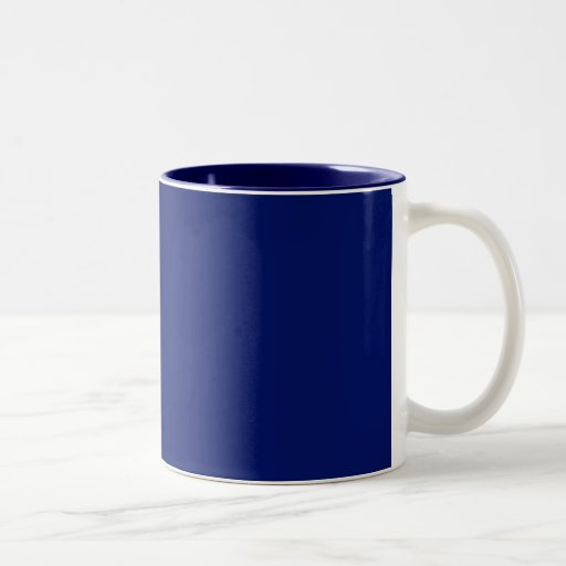 Cup with Navy Blue Background Two-Tone Coffee Mug