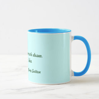 Cup with phrase on ideas, to win, to undertake