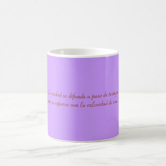Cup with phrase on the truth and the lie