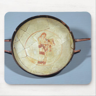 Cup without foot, standing Muse playing the lyre, Mouse Pad