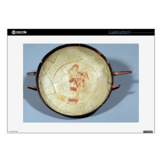"""Cup without foot, standing Muse playing the lyre, Skins For 15"""" Laptops"""