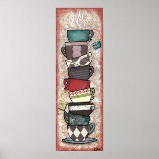 Cupapalooza - tazas de café, tazas de té - arte póster
