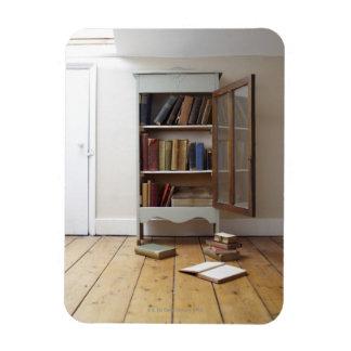 Cupboard full of books. rectangular photo magnet