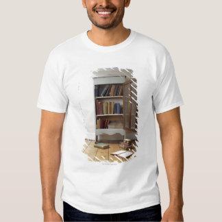 Cupboard full of books. t shirt
