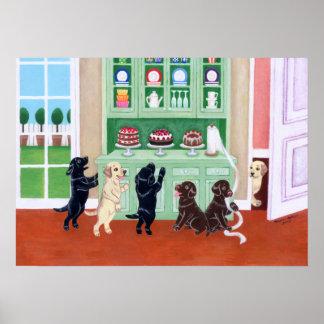 Cupboard Labrador Puppies Art Print Print
