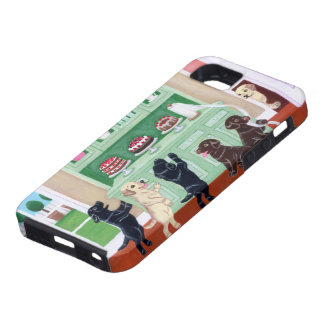 Cupboard Labrador Puppies Case For iPhone 5/5S