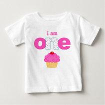 Cupcake 1st Birthday T-shirt Toddler Baby Kid