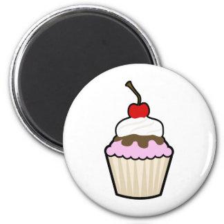 Cupcake 2 Inch Round Magnet