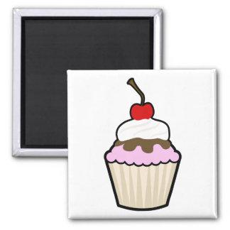 Cupcake 2 Inch Square Magnet