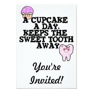 Cupcake A Day Sweet Tooth Away Card