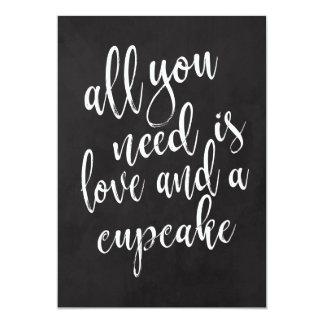 Cupcake affordable chalkboard wedding sign card