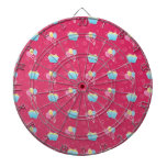 Cupcake and Balloons Pattern Dartboards