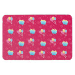 Cupcake and Balloons Pattern Flexible Magnet