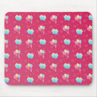 Cupcake and Balloons Pattern Mouse Pad