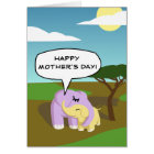 Cupcake and Butters Happy Mother's Day! Card