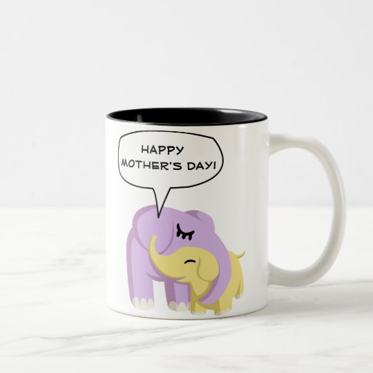 Cupcake and Butters Happy Mother's Day! Two-Tone Coffee Mug