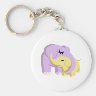 Cupcake and Butters the Elephants Basic Round Button Keychain