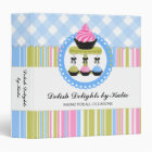 Cupcake and Cake Pops Bakery 1.5 inch Binder