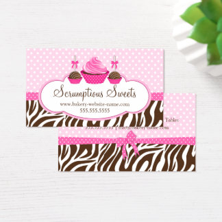 Cupcake and Cake Pops Bakery Business Card