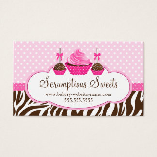 Cupcake and Cake Pops Bakery Business Cards