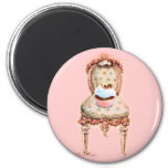 Cupcake and Chair Vintage Style Magnet