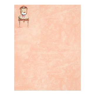 Cupcake and Chair vintage Style Stationery Letterhead