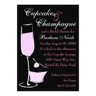 Cupcake and Champage Card