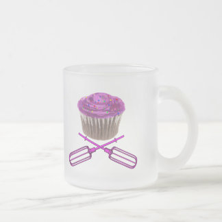 Cupcake and Crossbeaters Frosted Glass Coffee Mug