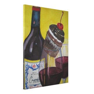 Cupcake and Cupcake Wine Canvas Print