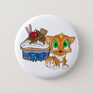 Cupcake and Kitten Button