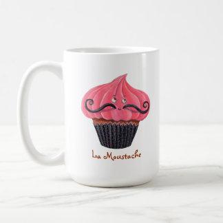 Cupcake and La Moustache Coffee Mug