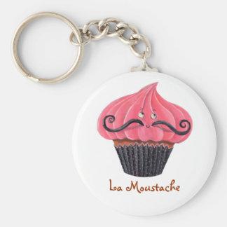 Cupcake and La Moustache Keychains