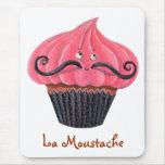 Cupcake and La Moustache Mousepad