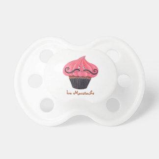 Cupcake and La Moustache Pacifier