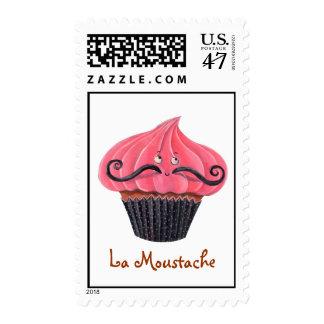 Cupcake and La Moustache Postage