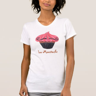 Cupcake and La Moustache T-Shirt
