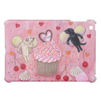 Cupcake and Labrador Fairies Painting iPad Mini Covers