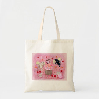 Cupcake and Labrador Fairies Painting Tote Bag