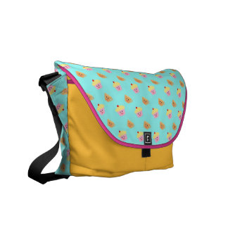 Cupcake and Tea Pattern Messenger Bag