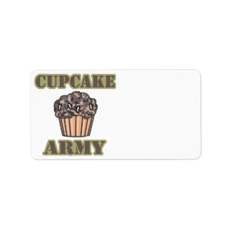 Cupcake Army Label