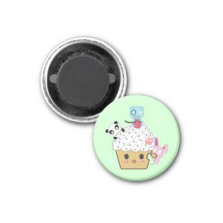 Cupcake Attack! (>_<) 1 Inch Round Magnet