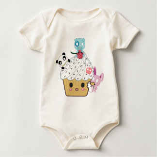 Cupcake Attack! (>_<) Baby Bodysuit