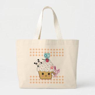 Cupcake Attack! (>_<) Jumbo Tote Bag