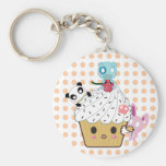 Cupcake Attack! (>_<) Key Chains