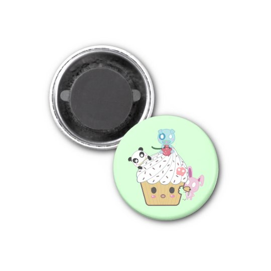 Cupcake Attack! (>_<) Magnet