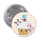 Cupcake Attack! (>_<) Pinback Buttons