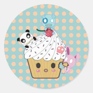 Cupcake Attack! (>_<) Sticker