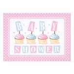Cupcake Baby Shower Invitation