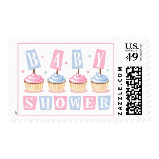 Cupcake Baby Shower Stamp